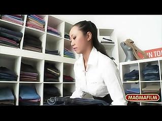 German Asian Lesbian Pleasure in Public store