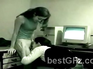 Naughty best friends got caught by vigilance camenra at the office