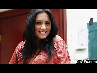 Nice auditon with perfect beautiful latina