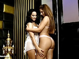 Loving Tonguing by Sapphic Erotica sensual lesbian sex scene with Debbie and C