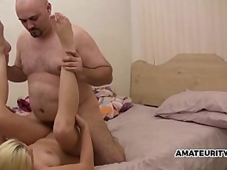 Daddy fills step daughters pussy