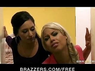 Hot bredgetib forced to do lesbian dildo big ass