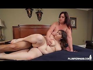Huge Tit BBW Lesbians Get Fucked by Huge black monster Cock
