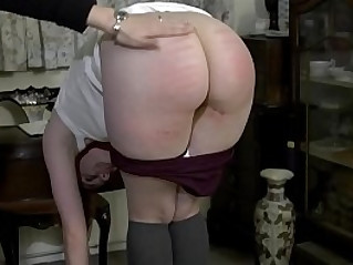 Headmistress second caning