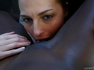 Interracial couple Roxy Rox and Ana Foxxx