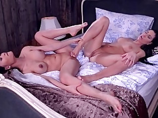 Breath taking lesbians Athina PussyKat suck lick their toes for orgasms