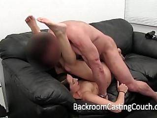 Girl Next Door Gets Creampie on Casting Couch