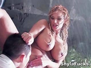 Shyla Stylezs Anal Pounding in the Bathroom