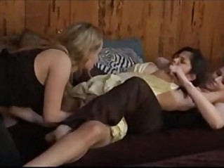 Cute Asian Used by Two, Free Lesbian Porn
