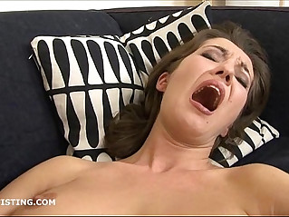 Brunette lesbian fisting her friends pussy
