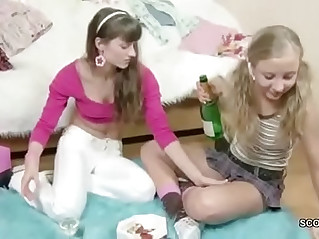 Brother Seduce Step sister to get first time Lesbian Sex