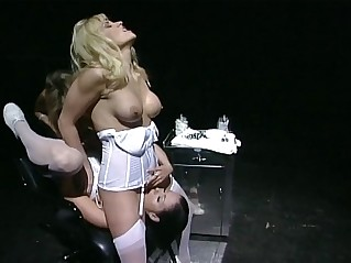 Three lesbian nurses get their wet pussies stretched