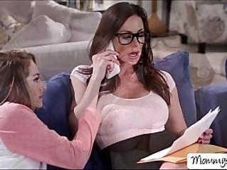 Hot Kimmy sucks her moms succulent pussy and gigantic titties