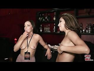 GIRLS GONE WILD Wet Bar for Two Young brunette Teen Lesbian Amateurs